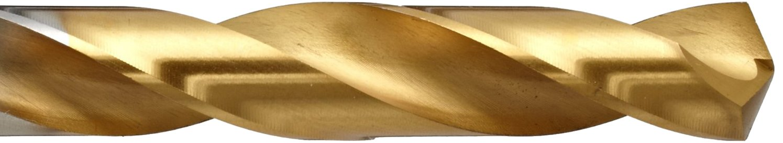 YG-1 D2GP High Speed Steel Gold-P Jobber Drill Bit TiN Finish 135 Degree 7//64 Diameter x 2-5//8 Length #35 Size Slow Spiral Straight Shank Pack of 10