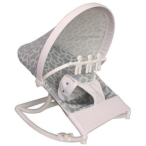 Hoohobbers Rocking Infant Seat, Pebbles Sky Blue