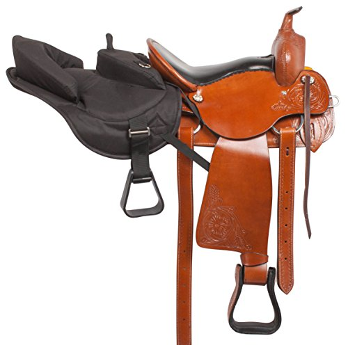 black-ride-behind-tandem-youth-buddy-western-saddle-horse-tack-trail-standard