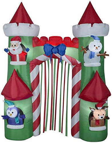(Gemmy 9' Airblown Archway Santa's Castle Christmas Inflatable)