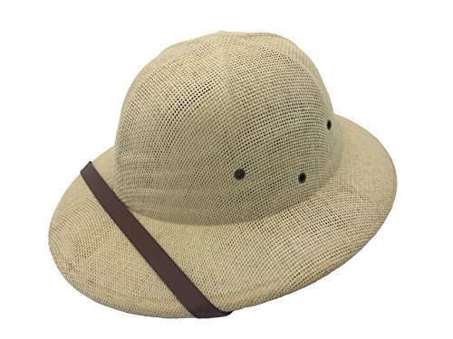 Kainozoic Safari Pith Helmet Costume Straw Jungle Hat