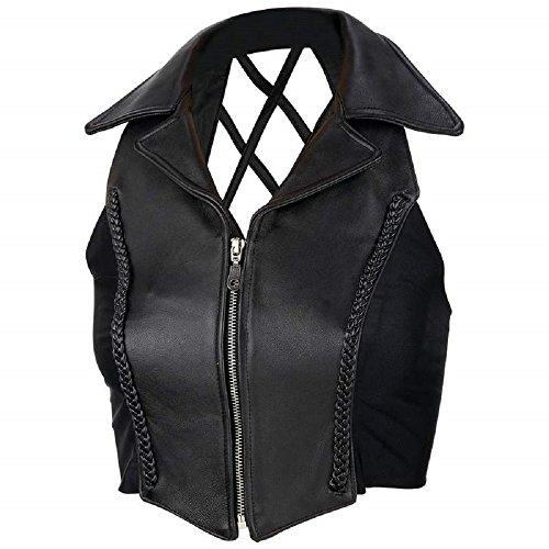 Diamond Plate Ladies' Solid Genuine Leather (Solid Genuine Leather Ladies Vest)