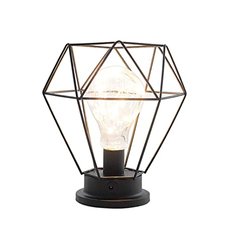 Lámparas de mesa Vintage,Lámparas LED de mesa Diseno Diamante, Luz ...