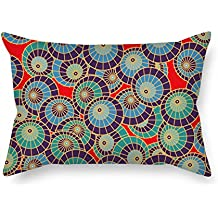 20 X 26 Inches / 50 By 65 Cm Circle Throw Pillow Covers Two Sides Is Fit For Home Saloon Kids Girls Couch Adults Relatives