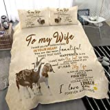 LoveofSky Goat Beautiful to My Wife Quilt Super