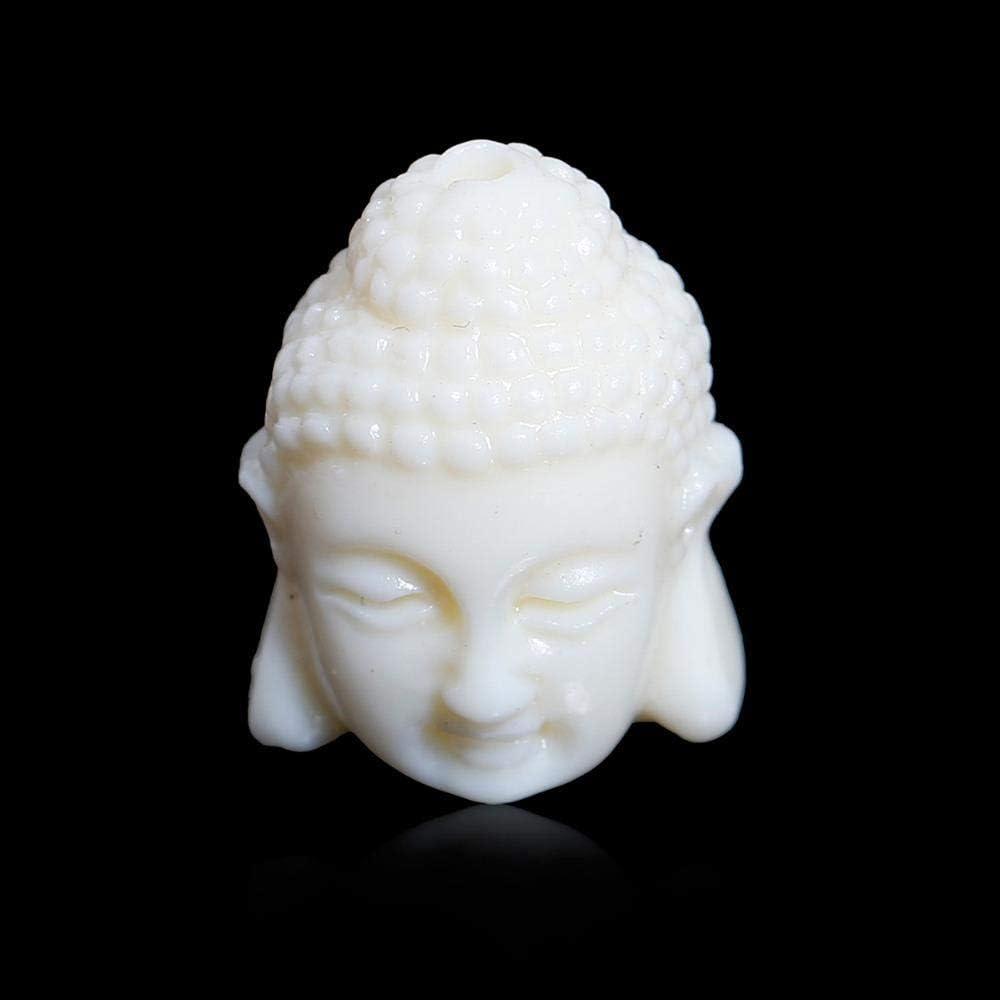 DHJFKSKH HS 16 mm X 11 mm (3/8 Pulgadas) Doreen Box Coral (sintético) Gemas Beige Piedra Patrón de Buda Suelto