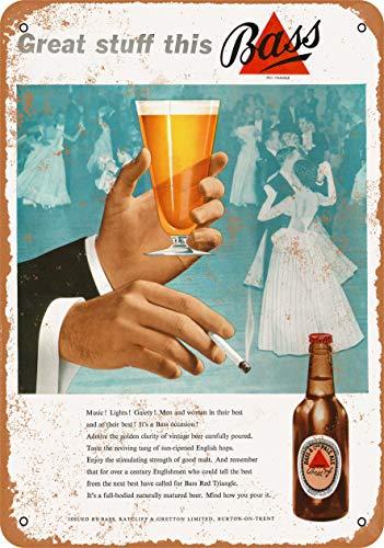 Bass Pale Ale - Wall-Color 7 x 10 Metal Sign - 1953 Bass Pale Ale - Vintage Look