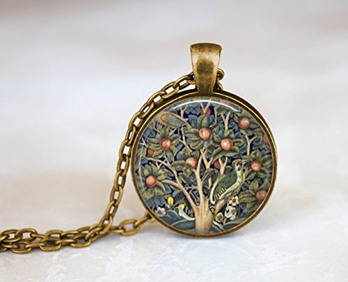 Inspired William Morris (Tree of Life Art Necklace, William Morris Art Tapestry, Vintage Style Necklace, Vintage Inspired Art Nouveau Necklace, Apple Tree Necklace)