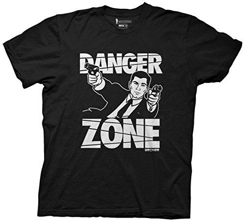 Ripple Junction Archer Danger Zone Mens Black T-Shirt XXL