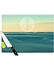Kess InHouse Robin Dickinson 'Row Your Own Boat' Cutting Board, 11.5 by 8.25-Inch, Blue Coupon 2017