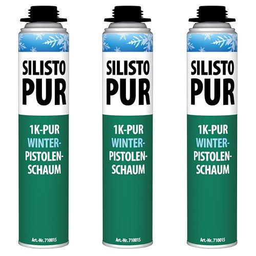 silisto Pur 1 K Invierno Pistola de espuma 3 x 750 ml Hasta de 10 °C verarbeitbar: Amazon.es: Bricolaje y herramientas