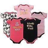 Luvable Friends Baby Infant Basic Bodysuit, 5 Pack, Worth The Wait, 6M(3-6 Months)