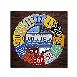 Clock Square by Design Turnpike, 14x14-Inch Canvas Wall Art