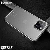 Baseus Wing  iPhone 11 Ultra İnce Kılıf, Transparan Beyaz