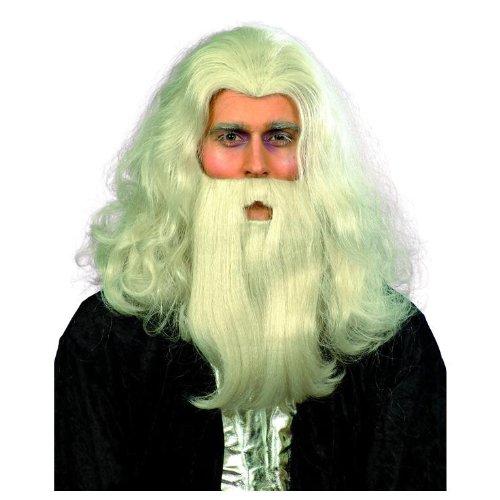 Grey Merlin Wig and Beard Set (Merlin Wig And Beard Set)