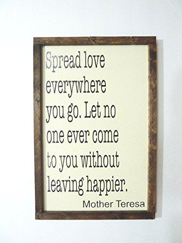 Mother Teresa Quotes Wall Art, Farmhouse Wall Decor Quote, Christian Wall  Art