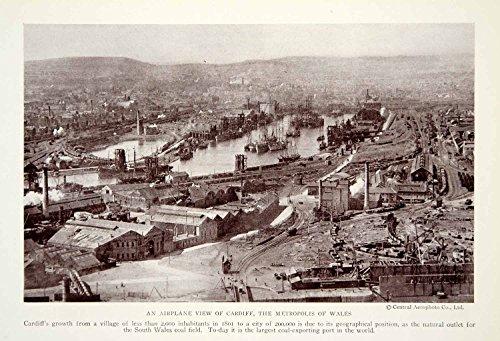 1923-print-cardiff-city-wales-united-kingdom-coal-export-manufacturing-historic-original-halftone-pr