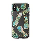 iPhone Xs, iPhone X, Sonix Sonix Liana Teal (Pineapple) Cell Phone Case [Military