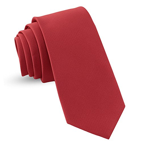 - Handmade Necktie Skinny Woven Slim Mens Tie: Thin Burgundy Red Ties For Men, Stylish Neckties For Every Outfit 3