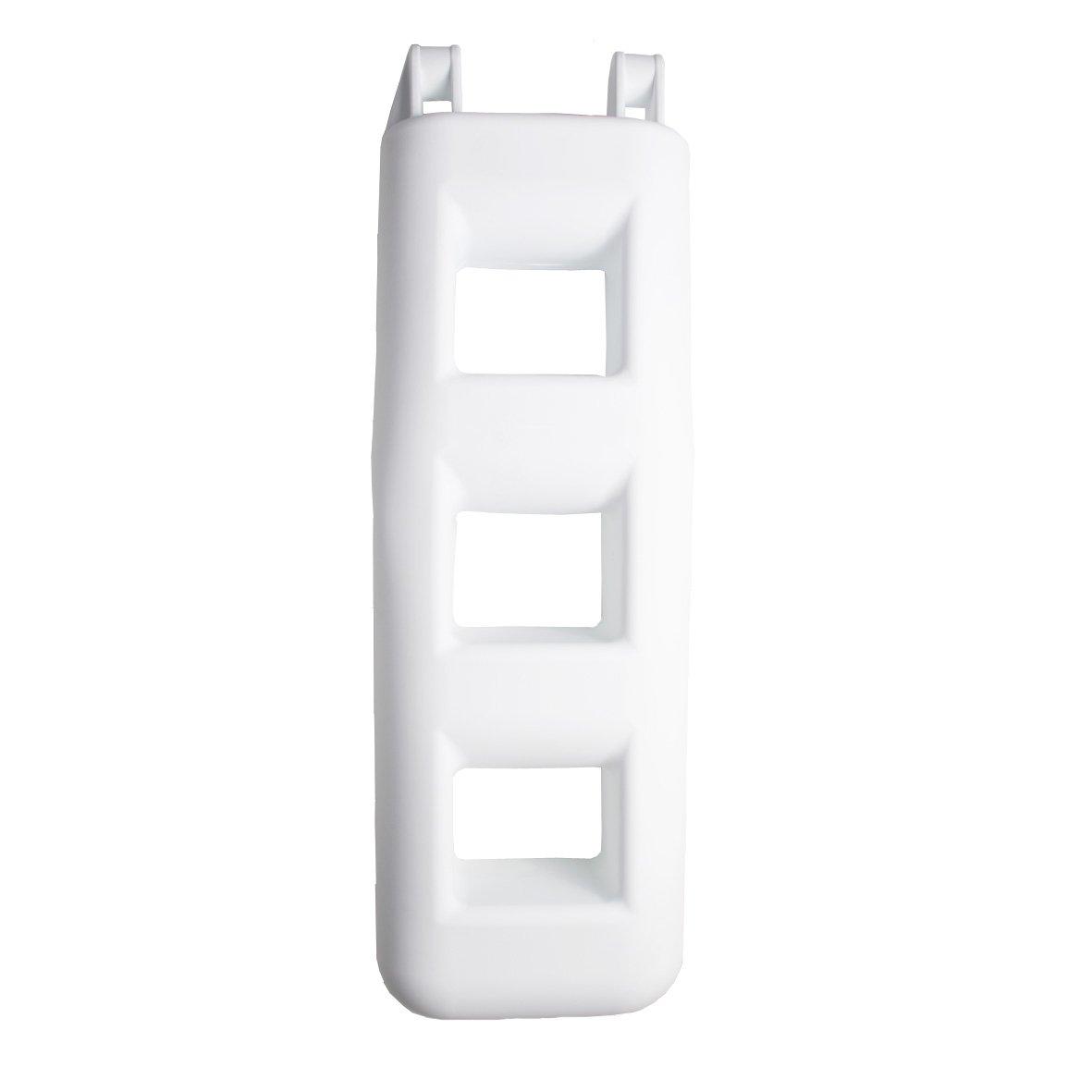 Majoni Fender Leiter Badeleiter Wei/ß, Stufen: 3 L/änge: 750 mm