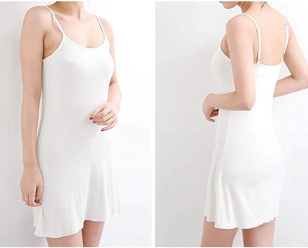 Asian Size Koala Superstore Women Sundress Nightwear Sleeveless Dress Short Slips XL White