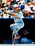 Juan Gonzalez Signed 16 x 20 Texas Rangers At Bat Photograph with 2 AL MVP - JSA Authenticated - Autographed MLB Photos