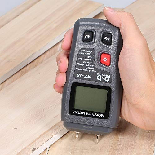 ... Two Pins Digital Wood Moisture Meter Portable Mini Humidity Tester With Large LCD Display High Accuracy Timber Hygrometer Damp Detector - - Amazon.com