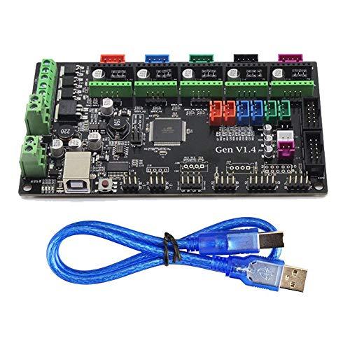 Toogoo 3D Printer Remix Board controller main board MKS Gen V1.4 compatible with Ramps1.4/Mega2560 R3 support a4988/DRV8825/TMC2100