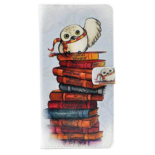 Unique! The Messenger Cute Owl Pattern Leather Wallet Credit Card Holder Pouch Flip Stand Case Cover for Apple iPod Touch 5 5th Touch 6 New (Accessories 5th Ipod)