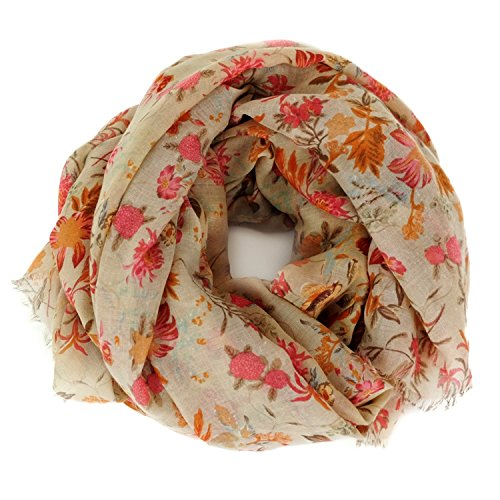 Scarves : Lightweight Boho Chic Floral Chintz Shawl By MIMOSITO