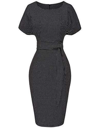 GownTown Women's 50s 60s Vintage Sexy Fitted Office Pencil Dress