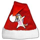 JYDPROV Hip Hop Unicorn Rainbow Christmas Santa Hat