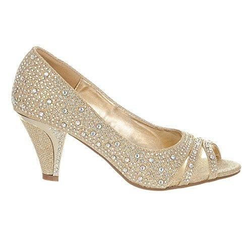 toe Shoes Diva Femme Miss Doré Peep YZvqxt