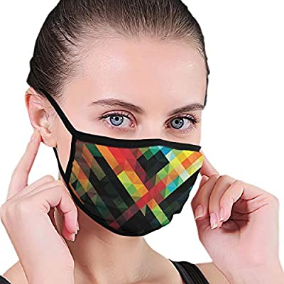 Dust Mask Geometric Morden Fashion Anti-dust Reusable Cotton Comfy Breathable Safety Mouth Masks Half Face Mask for Women Man Running Cycling Outdoor