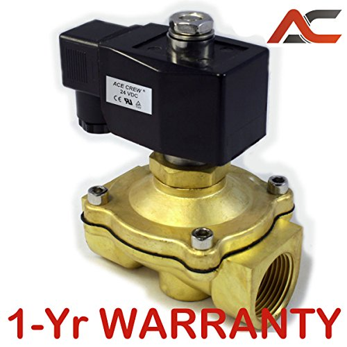 1 inch Normally Open NO 24V AC VAC Brass Solenoid Valve NPT ONE-Year (Normally Open Npt Valve)