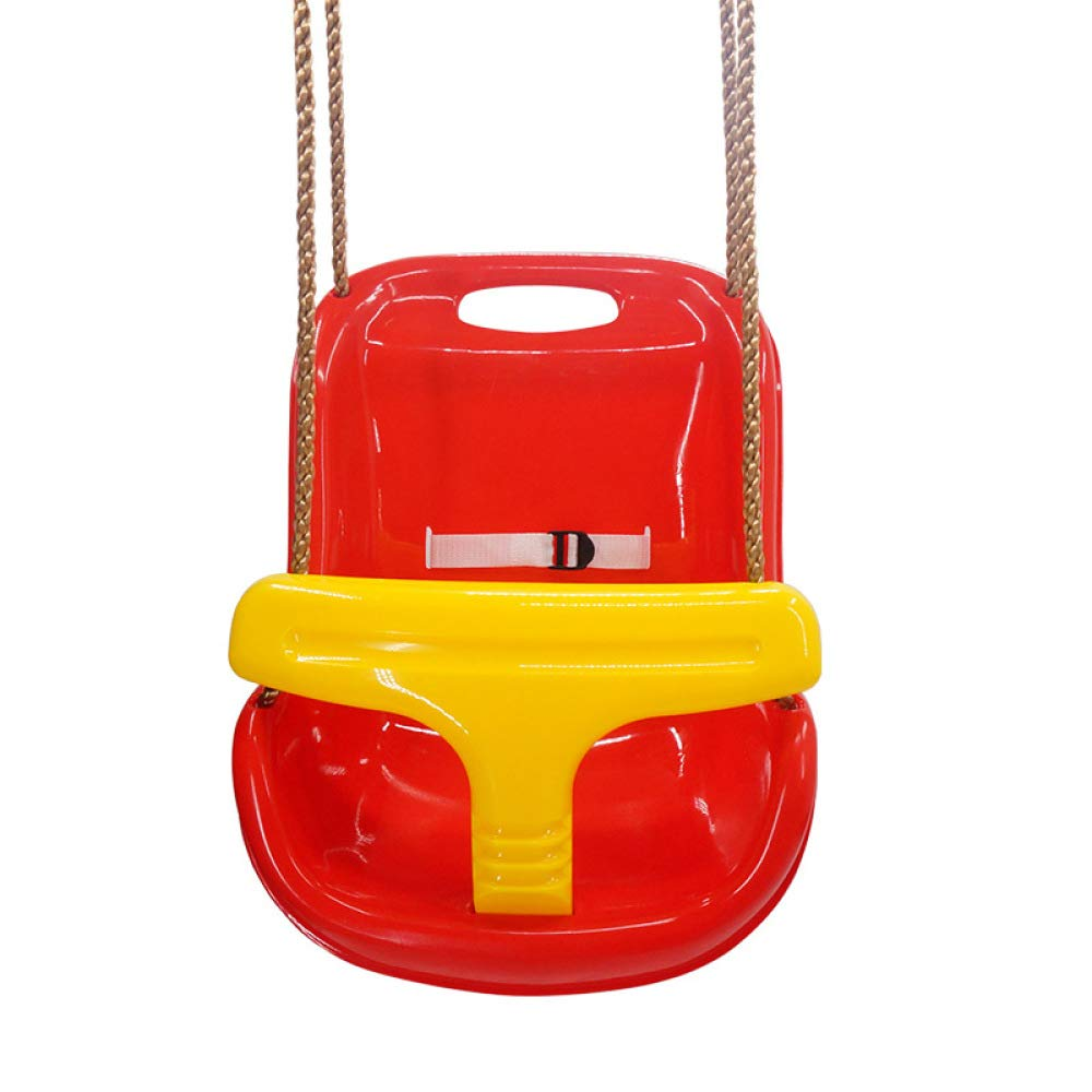 DONG Toddler Swing Baby Set Plastic Chair Garden Seat Folding Seat Outdoor Indoor Gift,Red