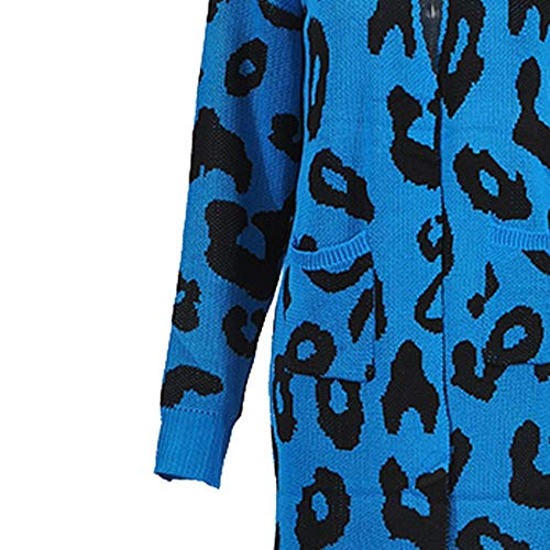 celebrazione Causale Ulanda Natale Blu Maglione Lunghe Felpa Cappotto Donna Top A In Maniche Sciolta Festiva Con Stampa eu Camicetta Lavorato Maglina Maglia Di qqwUrO7x