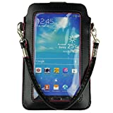 PU Leather Mobile Phone Bag Wallet Pouch Case for Samsung Galaxy Mega 6.3 Mega 5.8 Note 4 Note edge Note 3 iphone 6 plus 5.5inch LG G Pro 2 HTC ONE M8 (Black)