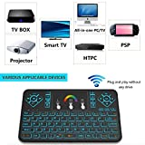 Mini Wireless Keyboard and Touchpad Mouse Combo With Colorful Backlit, Q9 2.4Ghz Colorful Backlit Handle Control for Android TV Box, Windows PC, HTPC, IPTV, Raspberry Pi, XBOX 360, PS3, PS4 by Okela