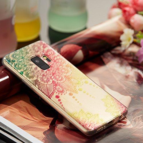 Samsung S9 Funda, Galaxy S9 TPU Case Cover, NEWSTARS Lujo Bling Bling Glamour Brillante Glitter Flamenco Unicornio Mariposa Flor Diseño Funda Carcasa Ultra Delgado Resistente a los Arañazos Soft TPU S B Glitter TPU 5