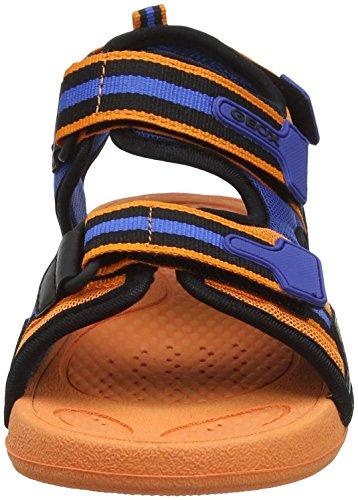 Geox Ultrak Boy A, Sandales Bout Ouvert Garçon Orange (Orange/Black)