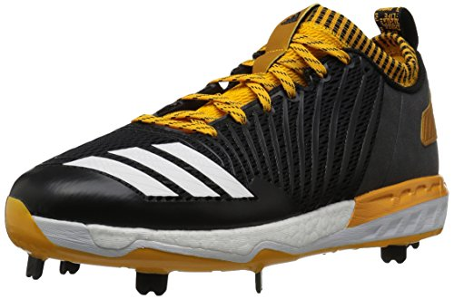 adidas Performance Men's Boost Icon 3 Baseball Shoe, Black/White/Collegiate Gold, 9.5 Medium - Icons Black And Gold