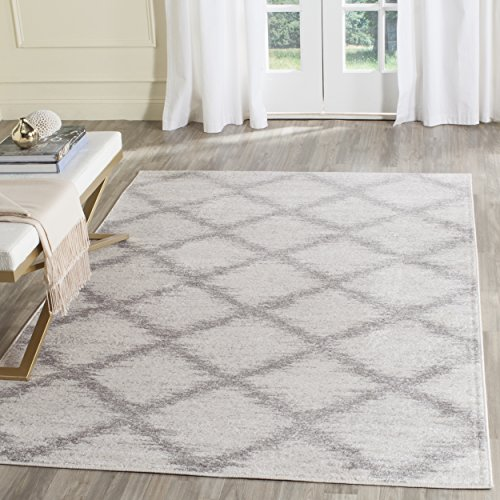 Safavieh Adirondack Collection ADR122B Ivory Silver Modern Trellis Area Rug (5'1