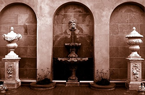 Home Comforts LAMINATED POSTER Fountain Statue Garden Sculpture Decoration Poster 24x16 Adhesive Decal by Home Comforts