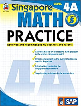 Amazon.com: Singapore Math – Level 4A Math Practice Workbook for 5th ...
