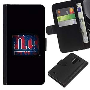 LECELL--Cuero de la tarjeta la carpeta del tirón Smartphone Slots Protección Holder For LG G3 -- NY Grunge --