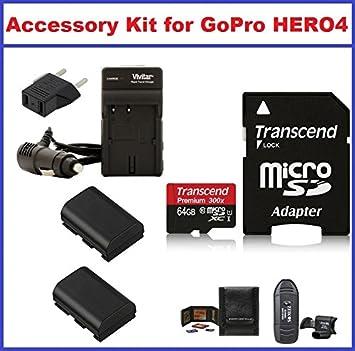 Kit de accesorios para GoPro Hero4 videocámara, incluye ...