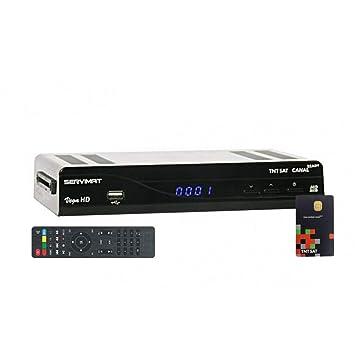 Servimat Vega - Receptor de TV por satélite (950 - 2150 MHz, Puerto HDMI, TNTSAT), Negro (Importado)