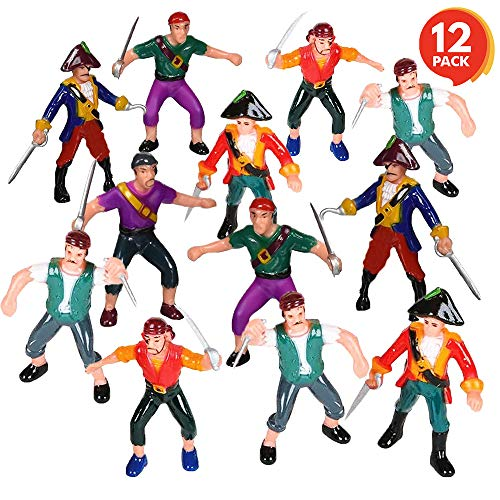 (ArtCreativity Pirate Action Figures (Pack of 12) | Legendary Plastic Figures |Fun Pirate Party Favor and Prize | Excellent Gift for Kids Ages 5+)