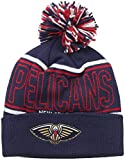 NBA New Orleans Pelicans Men's Energy Stripe Cuffed Knit Pom, One Size, Navy